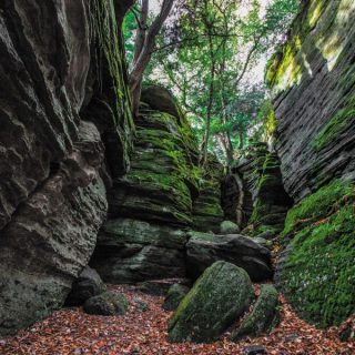 Cannonball Canyon at Panama Rocks