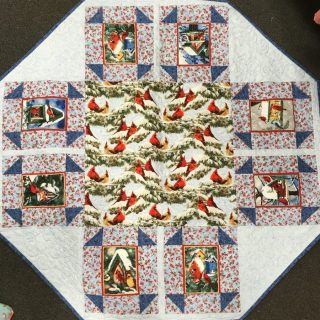 Octagon Quilted Table Topper